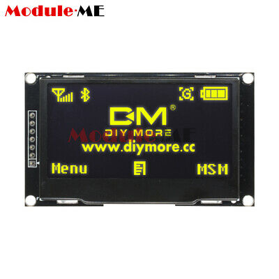 """2.42"""" inch 12864 Yellow OLED Display Module IIC I2C SPI Serial FOR C51 STM32"""