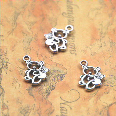 20pcs/lot Mama Bear charm silver tone koalas animal Charms Pendant 15x18mm