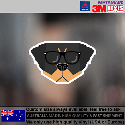 Bernese Mountain Hipster Funny Cute Animals Dog Decal Sticker 100 mm x 63 mm
