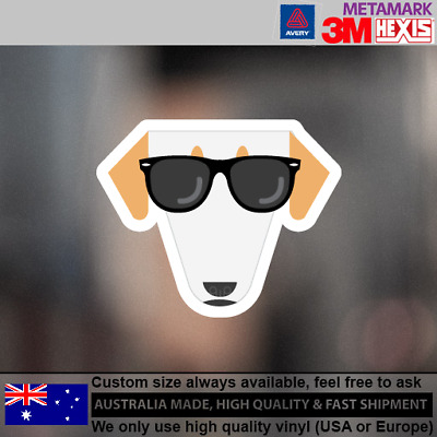 Borzois Hipster Funny Cute Animals Dog Decal Sticker 100 mm x 82 mm