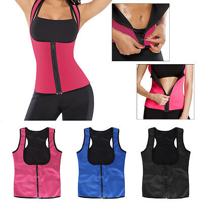 Women Neoprene Slimming Thermo Sauna Belt Body Shaper Yoga Vest Waist Cincher