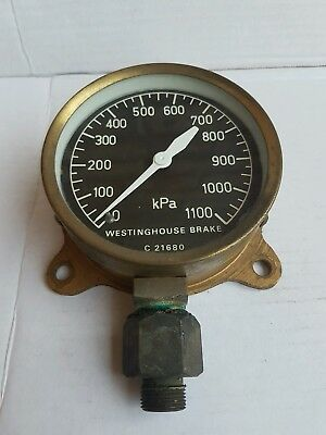 Vintage Westinghouse Locomotive Pressure Gauge Antique Railway Train Steampunk
