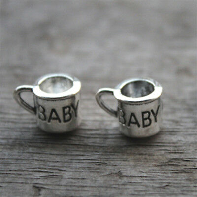 20pcs Cup Charms silver tone 3D cheer Cup Charm Pendant 10x11mm