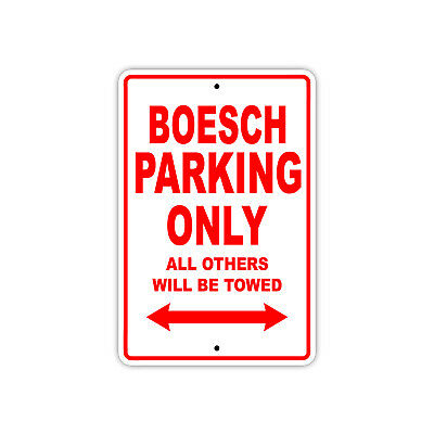 Boesch Parking Only Boat Ship yacth Marina Lake Dock Aluminum Metal Sign