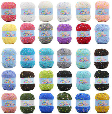 50g Skein Knitting wool Chunky Yarn Color point silk protein Cashmere Crochet