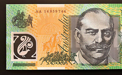 2014 Aus $100 Note ** AA14 ** FIRST PREFIX ** PERFECT UNC!! 100% NATURAL Note!!
