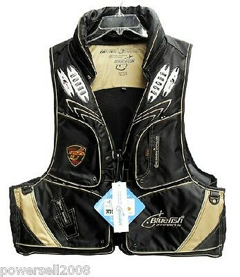 D1 Detachable Multi Pockets Black Adult Fishing/Life Jacket/Floating Vest