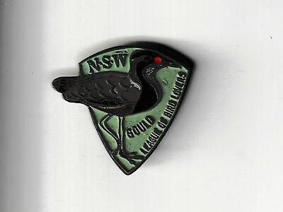 3 NSW Gould League of Bird Lovers metal badges. 1955, 1963, 1964.