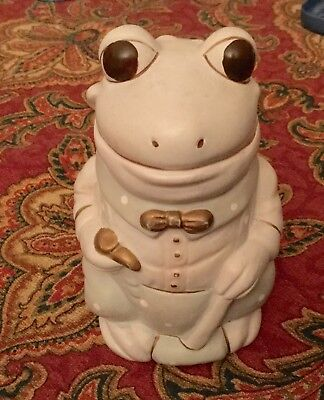 Mount Clemens Pottery dressed up Frog Figurine