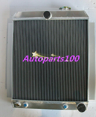 3 ROW ALUMINUM Radiateur for 1955-1959 CHEVY PICK UP TRUCK V8 55 56 57 58 59