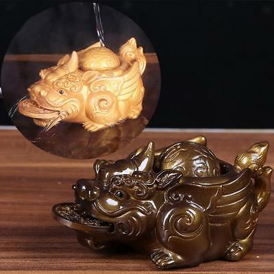 Chinese Kung Fu Tea Pet Tea Ceremony Pi Xiu Home Table Decoration Gold