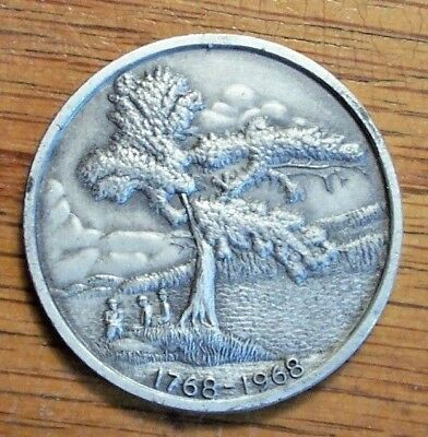 TOWN ANNIVERSARY STERLING MEDAL #678 MEREDITH NH 1968  200th Anniversary