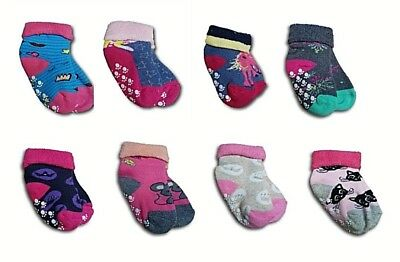 Baby Girls Toddler ABS Anti Slip Terry Cotton Winter Socks Size 9-24 Months
