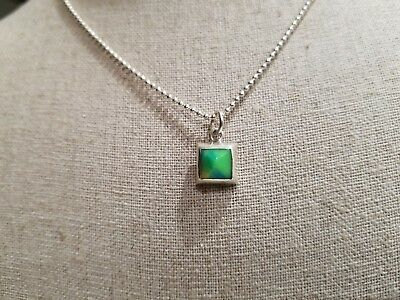 "3/4"" Sterling silver Green pendant.  Chain is not included"