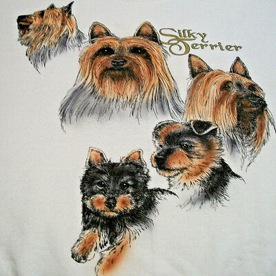 "Silky Terrier Sweatshirt  "" Natural "" Size XL ( 46 - 48 )"
