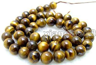 """SALE Small 8mm Round Natural Tiger's-eye gemstone Beads strand 15""""-los497"""