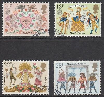 GB Stamps 1981, Folklore, set of 4, Very Fine Used from FDC
