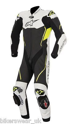 Alpinestars Atem White/Black/FLUO 1 One Piece Leather Motorcycle Suit was £1100