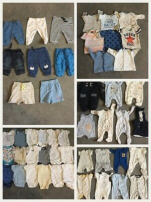Huge 49 Items Baby Boys Newborn Tiny Baby Up to 1 Month Clothes Bundle