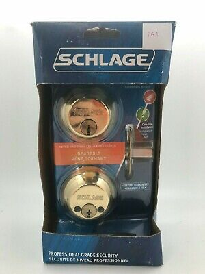 Schlage Double Cylinder Deadbolt In Satin Brass - Professional Grade Security