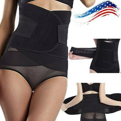 Women Adjustable Back Support Belt Postpartum Belly Recovery Body Shaper XQ