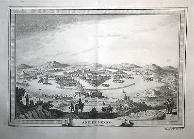 View of Mexico City - Mexico - Bellin 1746-57