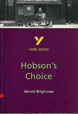 Hobson's Choice: York Notes for GCSE, Dyke, Brian, Used; Good Book