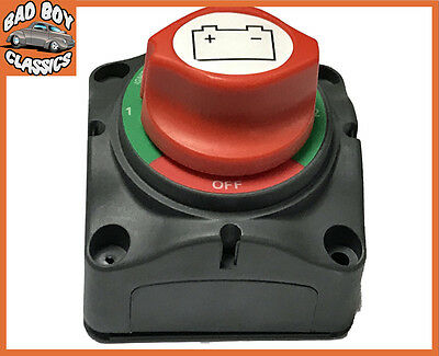 Marine Battery Isolator Cut Off Switch 4 Position For Use With Twin Batteries