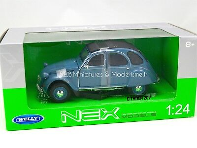 Citroën 2Cv Bleu 1982 -1:24-27 Welly