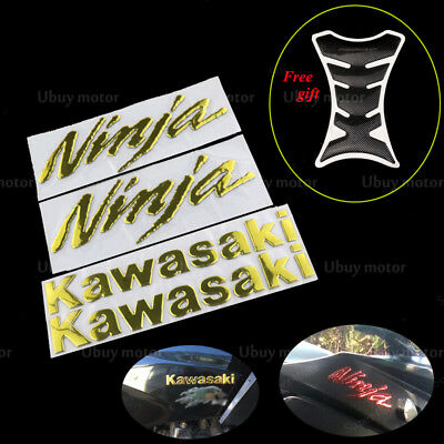 KAWASAKI Ninja ZX6R 250R ZX14 ZX-10R Fairing Decals Emblems Tank protect Sticker