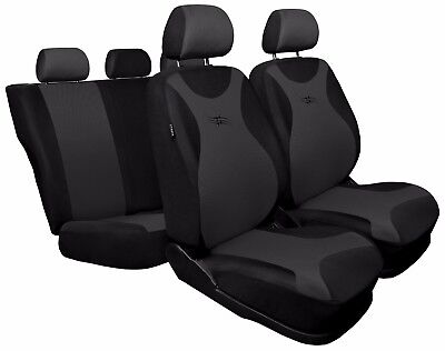 Full set car seat covers fit Ford Focus - black/grey