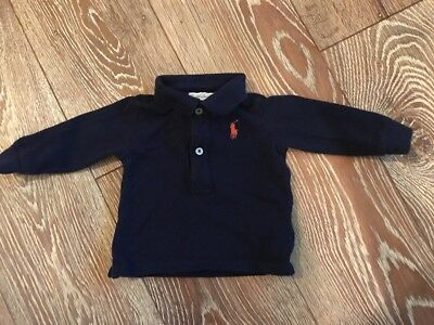 Baby Boy Lacoste Polo Shirt Long Sleeved Top Age 6 Months