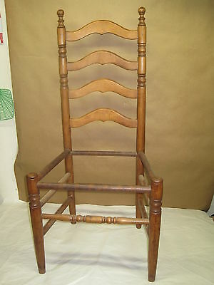 Antique Childs/Dolls Ladder Back Chair