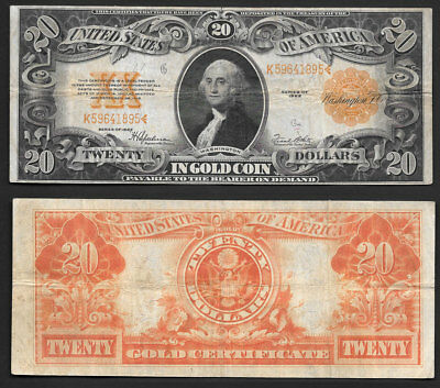 >>Beautiful<< Mid/grade $20 1922 >Gold Note<
