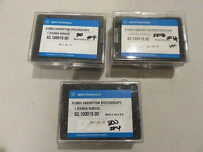 3 count Agilent Technologies Zeeman shroud 6310001900 for Atomic Absorption Spec
