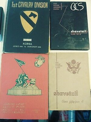 Lot of 4 Millitary Yearbooks 1st Cavalry, ShaveTail, Marine Box1