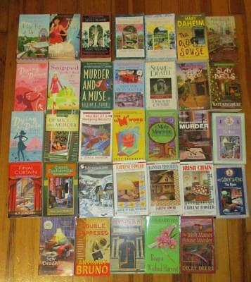 Large Lot of 33 Cozy Mystery Papaerback Books