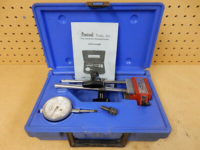 "Central Tools Dial Indicator Set .001 1"" Range #6419 W / Magnetic Base +Case Usa"