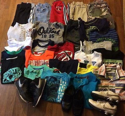 boys winter Play clothes pants long sleeves sz 5/6 Lot of 28 Shoes sz 13/1 Nike