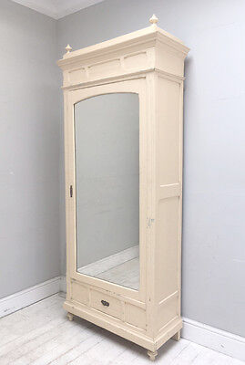 Stylish French Antique Painted Single Door Armoire