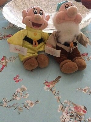 Disney Store Exclusive Dopey And Sleepy Soft Toys Tagged