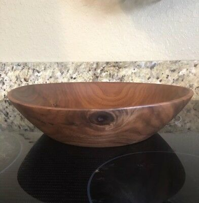 Reclaimed Black Walnut Wood-hand turned decorative or food bowl signed by artist
