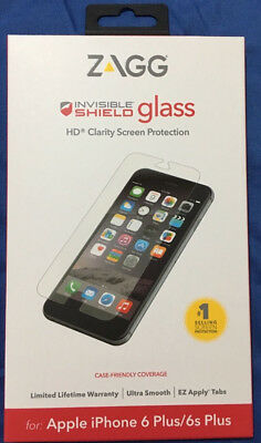 "New ZAGG Invisible Shield HD Glass for Apple iPhone 6 Plus / 6s Plus (5.5"")"