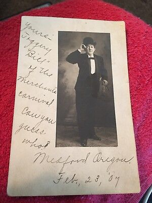 Antique 1907 Postcard Of Gentleman With Monacle Glass