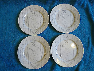 UNUSED ROYAL WORCESTER  Essentials REGENCY 4 X 7.5 INCH PLATES GREY / WHITE
