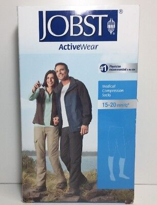 (New) Jobst / Active Wear Moderate Support Over‑the‑calf Socks - Cool White -  L