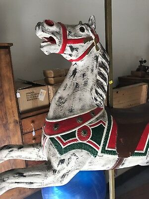 vintage carousel horse authentic handmade wood