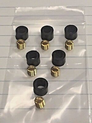 "Refrigeration Hose Repair Kit, For Hoses with 1/4"" Knurled Nut Flared Ends (6)"