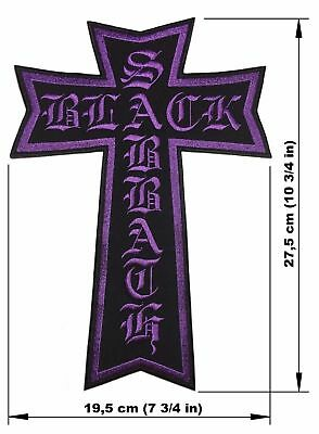 BLACK SABBATH Cross BACK PATCH embroidered NEW heavy metal