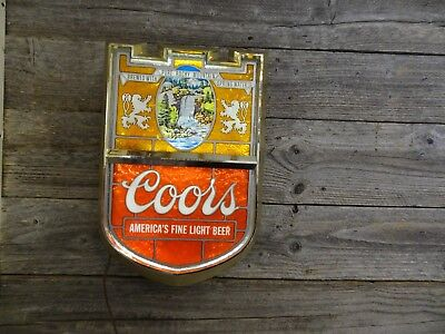Vintage Coors Beer Lighted Advertising Sign Waterfall 100% Coors Original Sign.